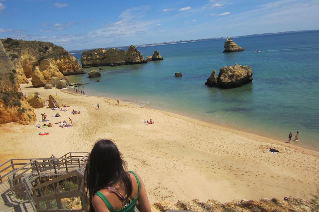 Playa de Santa Ana en Ponta da Piedade, el Algarve. © María Calvo.
