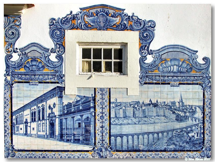 Azulejos en la Fábrica da Fonte Nova (1916), en la estación dos Caminhos-de-Ferro. © Vítor Ribeiro.
