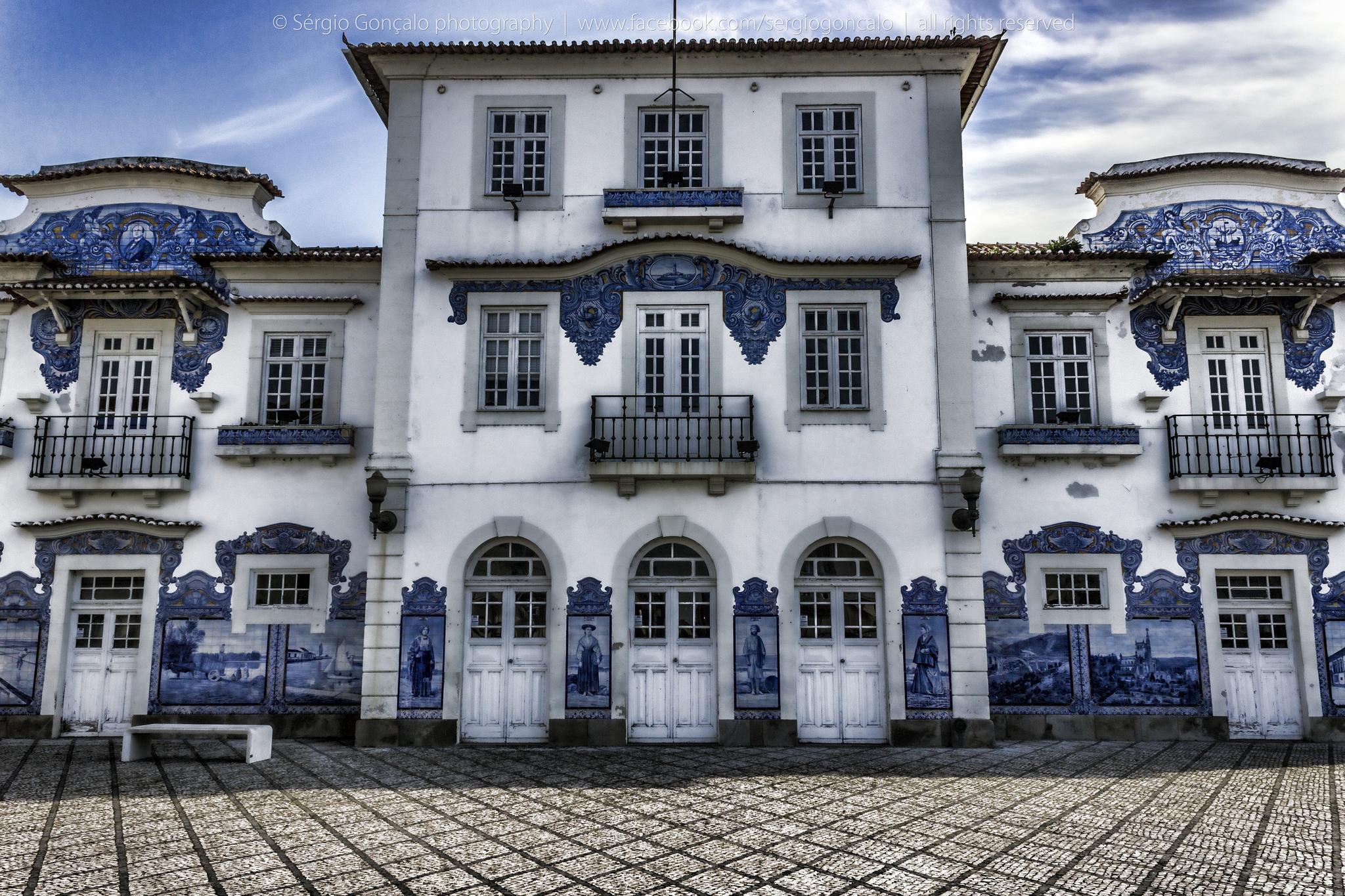 La belleza de la estación de ferrocarril con sus azulejos azules. © Sérgio Gonçalo Rodrigues.
