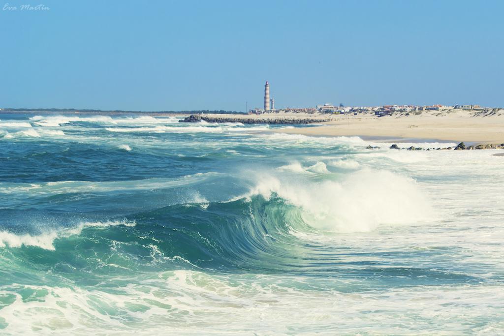 Las playas de Aveiro son espléndidas. En la foto, la playa de Barra, con el faro al fondo. © Eva Martín.