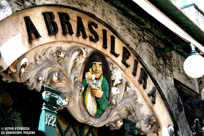 Café la Brasileira, mítico lugar de Lisboa