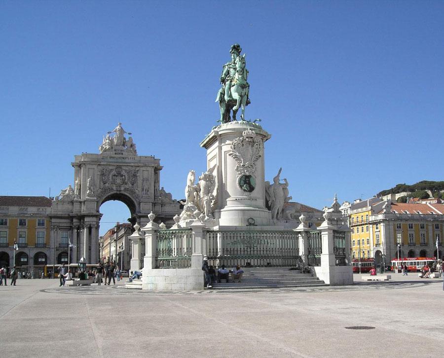 Plaza del Comercio en Lisboa, Portugal
