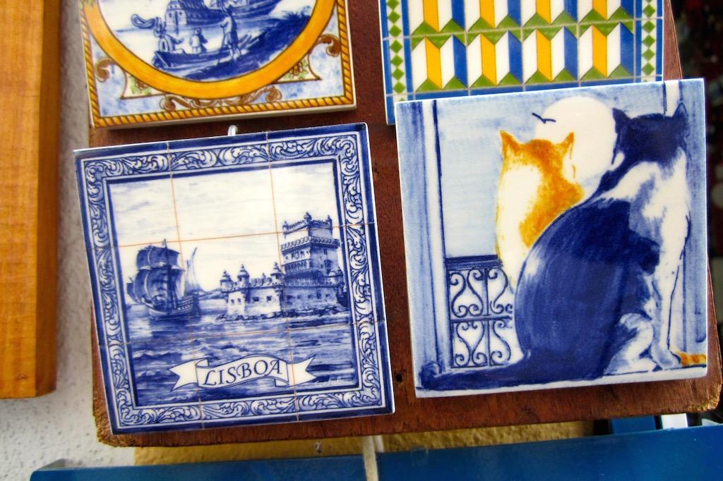 Los azulejos son uno de los productos de artesanía más apreciados de Portugal. © María Calvo.