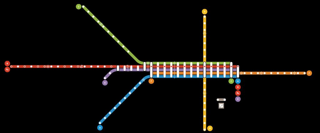 Mapa de las líneas de metro de Oporto