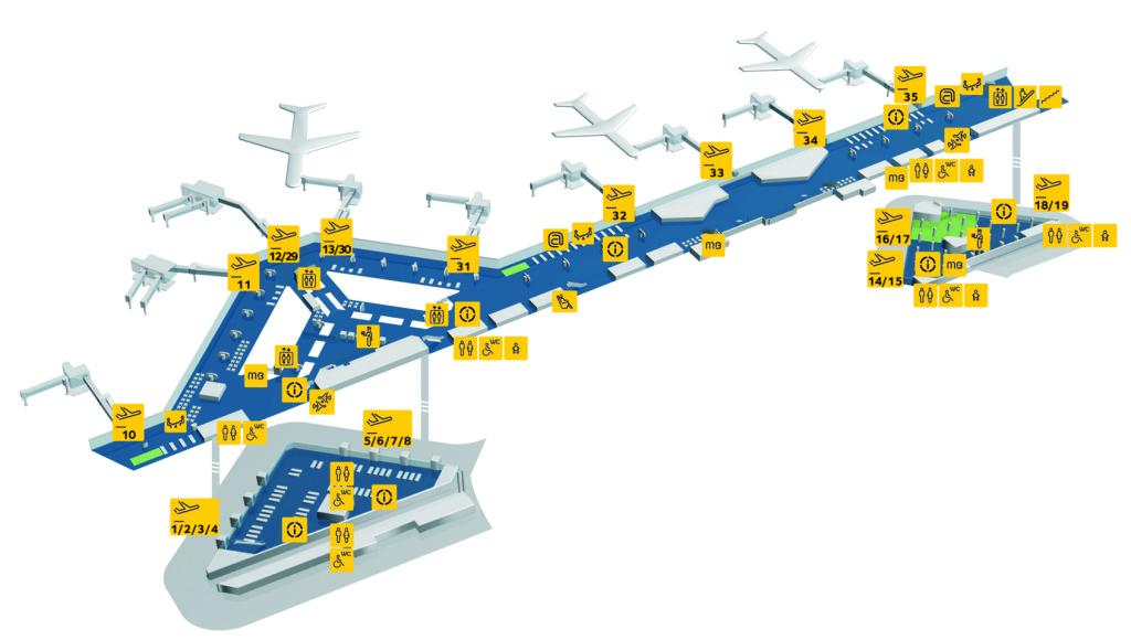 Instalaciones del aeropuerto de Oporto